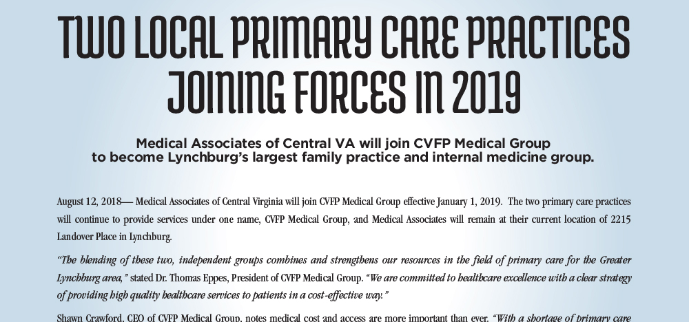 collaborative health partners medical practices lynchburg va medical associates cvfp